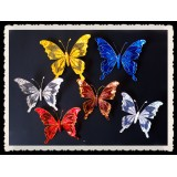 """BC90806-7"""" XMAS SPARKLE BUTTERFLY CLIP"""