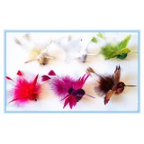 "BD9168-4"" FEATHER HUMMING BIRD CLIP"