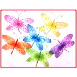 "D1120B-10"" SHEER JEWELED DRAGONFLY DECOR"