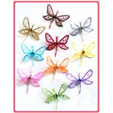 "DC2303-5"" 3D SHEER JEWELED DRAGONFLY CLIP"