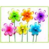 "F1113B-7"" TWO LAYER DAISY FLOWER PICK"