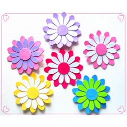 "F9162-12"" FELT 3D FLOWER CLIP DECOR"