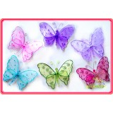 "GH2228A-11.5"" SHEER BUTTERFLY DECOR"