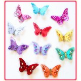"B090355-4"" SHEER JEWELED BUTTERFLY CLIP"