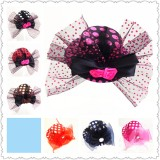 CTR031-POLKA DOT MINI HAT CLIP