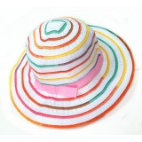 HA761 -FABRIC RAINBOW KID HAT