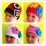 HT513-BABY COTTON CROCHET BEANIE