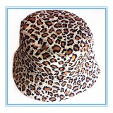 HT512-LEOPARD PRINT COTTON SUN HAT