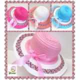 HT521-TEA PARTY & SUN STRAW HAT