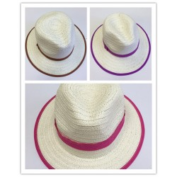 HT525-NEW  KIDS COWGIRL  STRAW HAT