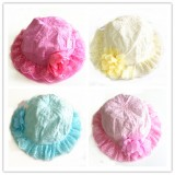 HT800 BABY LACE COTTON BONNET