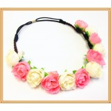 CTH126- ROSES STRETCHY HEADBAND