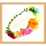 CTH128-RAINBOW ROSE HALO