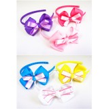 HA3100- TWO TONE BOW HEADBAND