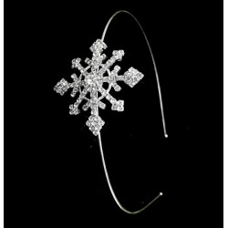 HA3102- RHINESTONE SNOW FLAKE HEAD BAND