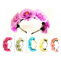 HA3201-CAMELLIAS FLOWER HEADBAND