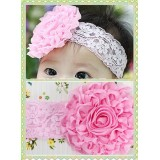 HA4042- BABY LACE STRETCHY HEAD BAND