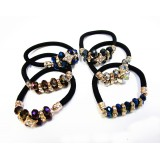 HA4073-1 METALLIC BEADS PONYTAIL & BRACLET