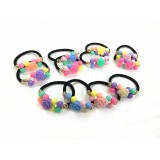 HA4073-3 -COLOR BEADS PONYTAIL & BRACLET