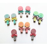 HA4076-SPARKLE LOLLIPOP CLIP