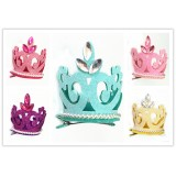 HA4093-GLITTER PRINCESS CROWN CLIP