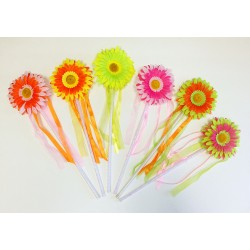 WD128-1 DAISY FLOWER WAND ASSORTED