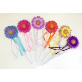 WD128-2DAISY FLOWER WAND ASSORTED