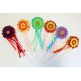 WD128-3 DAISY FLOWER WAND ASSORTED